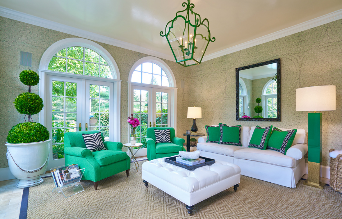 bryn-mawr-pa-green-arm-chairs-pillows-white-couch-interior-design