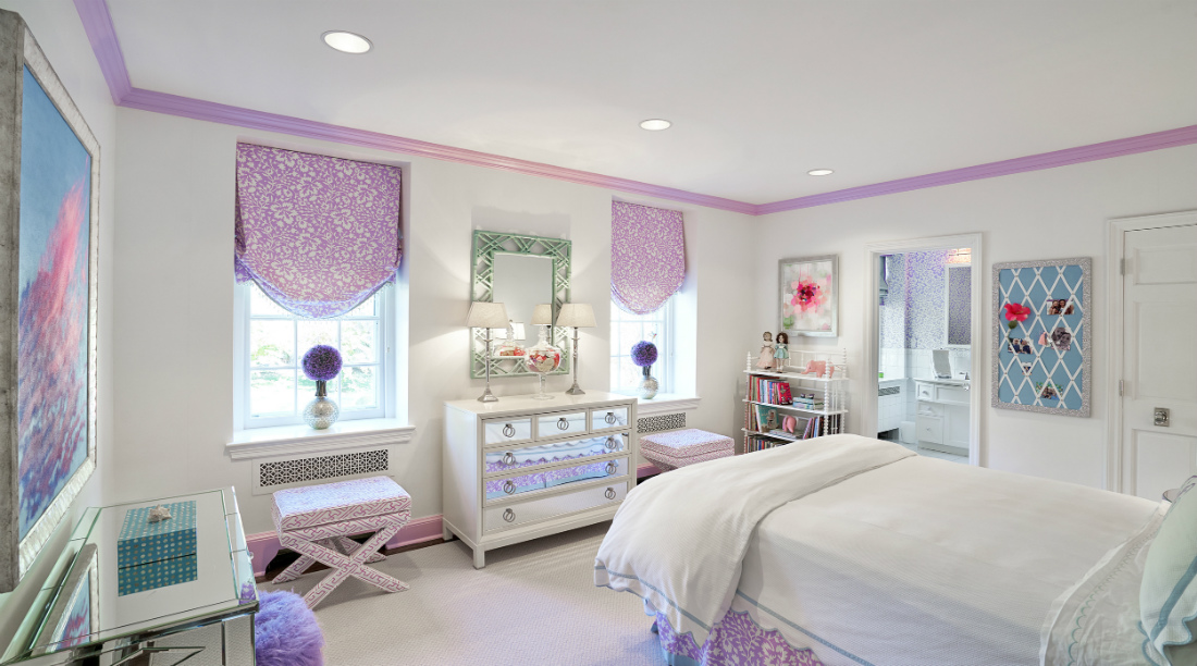 girls-bedroom-design-pink-and-white-window-treatments