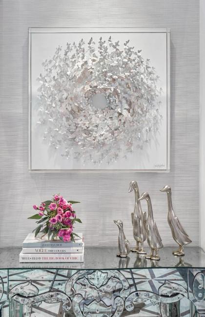 foyer-table-metal-duck-decor-wall-art-books