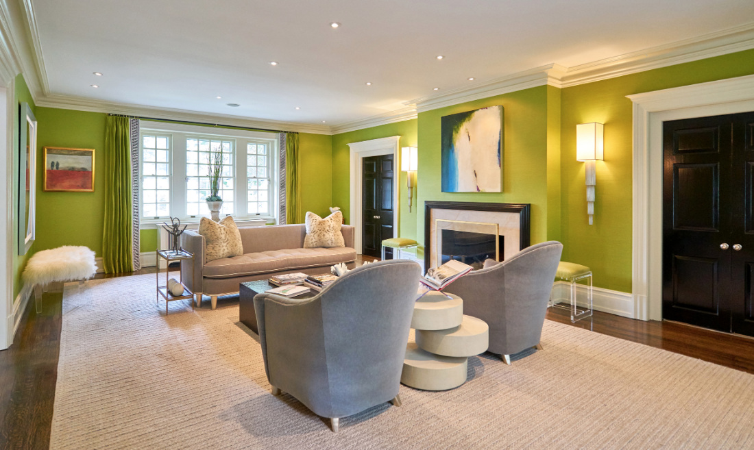 living-room-bryn-mawr-pa-green-paint-walls