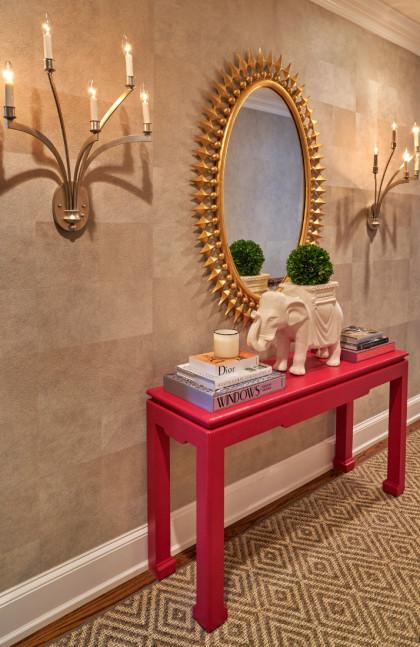 upstairs-hall-pink-table-mirror-jen-fuller-interior-design