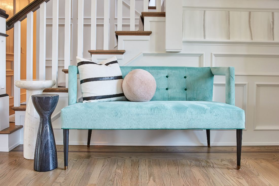 radnor-pa-foyer-bench-seating-blue