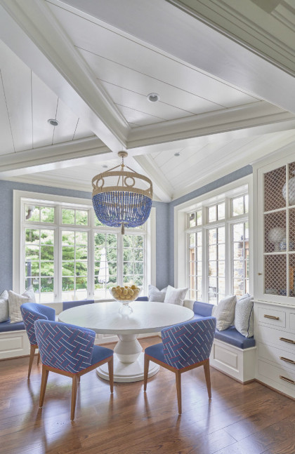 Breakfast Room Bryn Mawr Pa Blue Chairs White Table Interior Design E1598539490614 420x647 1