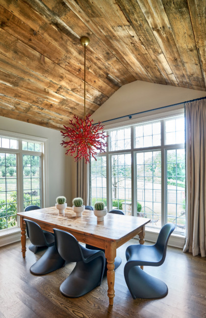 Breakfast Room Wood Ceiling Fuller Interiors 420x647 1