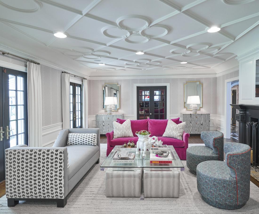 Jen Fuller Interior Design Living Room Ceiling Design