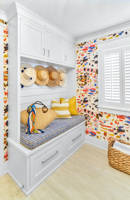 colorful-mudroom-bench-seating-beach-house